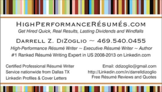 executive resume writer dallas