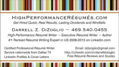 Executive resume writing services dallas tx